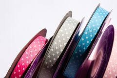 Colorful ribbons background stock images