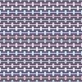 Pastel colors seamless pattern with battlement curved lines. Repeated geometric figures wallpaper. Modern surface. Pastel colors seamless pattern with Stock Images