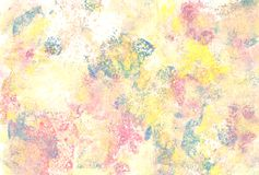 Pastel coloured abstract paint daubs stock photography