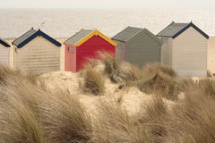Pastel coloured Beach Huts Royalty Free Stock Photography