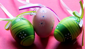 Pastel coloured Easter eggs Royalty Free Stock Photos