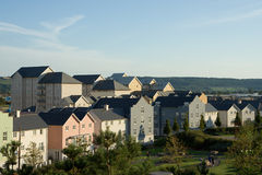 Pastel Coloured Housing. Newly built houses in Portishead, North Somerset royalty free stock photos