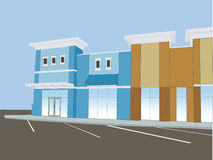 Pastel commercial mall Stock Image