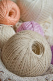 Pastel cotton skeins 1 Royalty Free Stock Photography