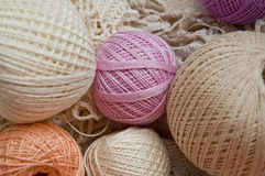 Pastel cotton skeins Royalty Free Stock Photo