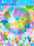 Pastel cover pattern of triangles and big bubble Royalty Free Stock Photo