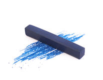 Pastel crayon chalk isolated. Pastel crayon chalk over its traces, composition isolated over the white background royalty free stock photography