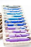 Pastel crayons isolated on white background Royalty Free Stock Photo