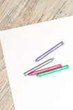 Pastel crayons on a sheet of paper Royalty Free Stock Photography