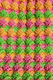 Pastel crocheting pattern Royalty Free Stock Images