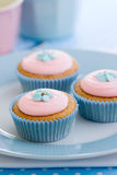 Pastel cupcakes Stock Photos