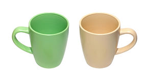 Pastel cups Stock Photos