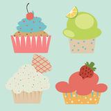 Pastel cute cupcake Royalty Free Stock Image