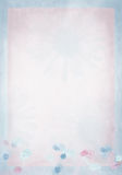 Pastel daisy border on pink background Stock Image