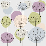 Pastel dandelion. Seamless pattern with pastel dandelion flowers. Vector illustration royalty free illustration