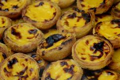 Pastel de belem, a traditional portuguese pastry royalty free stock images