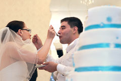 Pastel de bodas Imagen de archivo libre de regalías