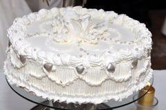 Pastel de bodas blanco Foto de archivo