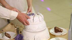 pastel de bodas del corte metrajes