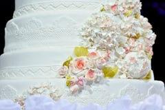 Pastel de bodas del primer Imagen de archivo