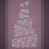 Pastel de bodas del vector Fotografía de archivo libre de regalías