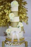 Pastel de bodas gradual del postre fotografía de archivo