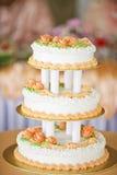 Pastel de bodas precioso fotos de archivo