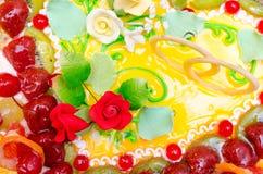Pastel de bodas, primer imagen de archivo libre de regalías