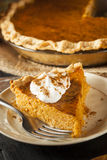 Pastel de calabaza hecho en casa para Thanksigiving Imagenes de archivo