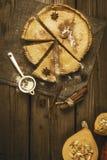 Pastel de calabaza tradicional para Halloween o la acción de gracias imagen de archivo libre de regalías