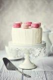 Pastel de capas de Macaron Imagen de archivo libre de regalías