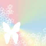 Pastel de la mariposa de la estrella Imagenes de archivo
