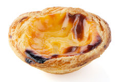 Pastel de nata. Typical pastry from Lisbon - Portugal, on white background stock photos