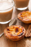 Pastel de nata and coffee Royalty Free Stock Photos