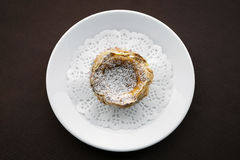 Pastel de nata famous portuguese sweet egg custard pastry tart Stock Photography