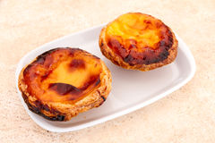 Pastel de nata is a Portuguese egg tart pastry Stock Images