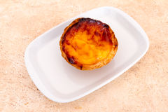 Pastel de nata is a Portuguese egg tart pastry Royalty Free Stock Images