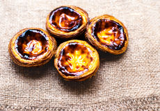 Pastel de nata, portuguese traditional creamy pastry. Egg Tart Royalty Free Stock Photos