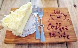 Pastel de queso fotos de archivo