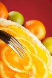 Pastel de queso anaranjado Imagenes de archivo
