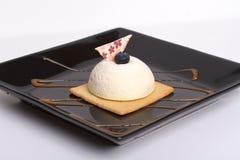 Pastel de queso blanco imágenes de archivo libres de regalías