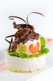 Pastel de queso con fresco imágenes de archivo libres de regalías