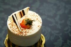 Pastel de queso con la fresa Imagen de archivo libre de regalías