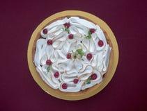 Pastel de queso con la pasa roja Imágenes de archivo libres de regalías
