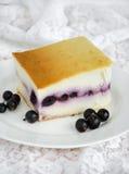 Pastel de queso con las bayas Fotos de archivo libres de regalías