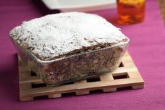 Pastel de queso con las semillas de amapola Imagenes de archivo