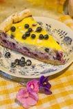 Pastel de queso con los arándanos Fotos de archivo libres de regalías