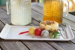 Pastel de queso de Apple Fotografía de archivo libre de regalías