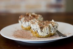 Pastel de queso de Baileys Fotos de archivo libres de regalías