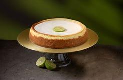 Pastel de queso de Keylime imagen de archivo libre de regalías